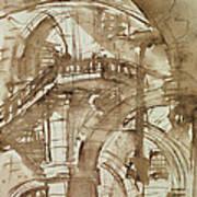 Roman Prison Art Print by Giovanni Battista Piranesi