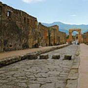 Roman Street In Pompeii Art Print