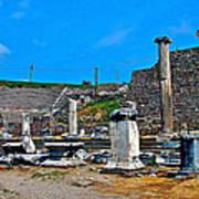 Roman Theatre In Pergamum-turkey  Art Print
