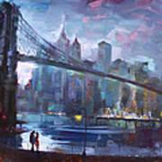 Romance By East River II Art Print