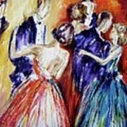 Dance In Romance Art Print