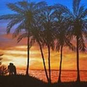 Romance In Paradise Art Print