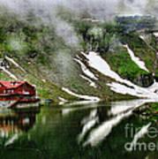 Romanian Glacier Lake Art Print