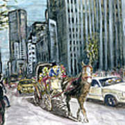 New York 5th Avenue Ride - Fine Art Art Print