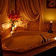 Romantic Bubble Bath Art Print by Kay Novy