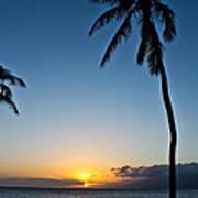 Romantic Maui Sunset Art Print