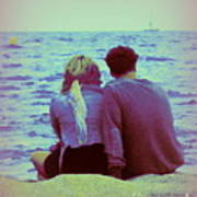 Romantic Seaside Moment Art Print