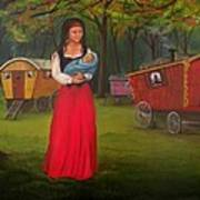 Romany Mother And Child Art Print