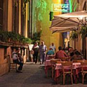 Rome Italy Accordion Serenade Art Print