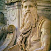 Rome, Italy. Michelangelos Moses Art Print