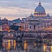 Rome Saint Peters Basilica 01 Art Print