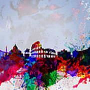 Rome Watercolor Skyline Art Print