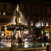 Rome's Fabulous Fountains - Fontana Del Tritone Art Print