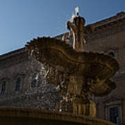 Rome's Fabulous Fountains - Piazza Farnese Fountain Art Print