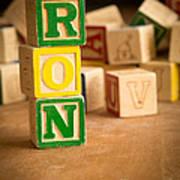 Ron - Alphabet Blocks Art Print