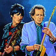 Ron Wood And Keith Richards Art Print by Paul Meijering