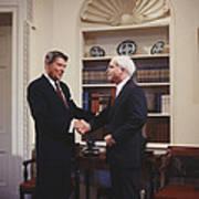 Ronald Reagan And John Mccain Art Print