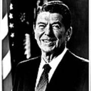 Ronald Reagan Art Print by Benjamin Yeager