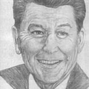 Ronald Reagan Art Print