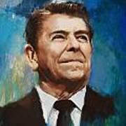 Ronald Reagan Portrait 6 Art Print