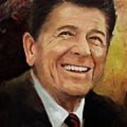 Ronald Reagan Portrait 8 Art Print by Corporate Art Task Force
