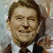 Ronald Reagan Portrait Print by Corporate Art Task Force