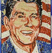 Ronald Wilson Reagan Mosaic Art Print