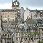 Roofs Of Edinburgh  Art Print