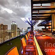 Rooftop Bar Above Eleven In Bangkok Print by Fototrav Print