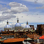 Rooftops Of Cuenca Art Print