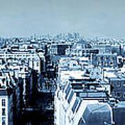 Rooftops Of Paris - Selenium Treatment Art Print