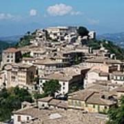 Rooftops Of The Italian City Art Print