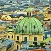 Rooftops Of Vienna Art Print