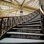 Rookery Building Atrium Staircase Art Print
