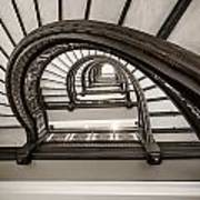 Rookery Building Off Center Oriel Staircase Art Print