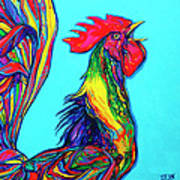 Rooster Crow Art Print
