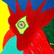 Rooster Dude Art Print