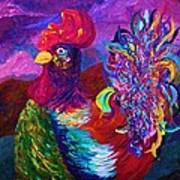 Rooster On The Horizon Art Print
