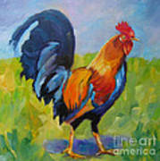 Rooster Proud Art Print