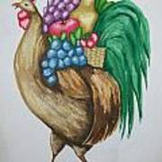 Rooster's Fruit To Go Art Print