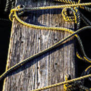 Rope And Wood Sidelight Textures Art Print