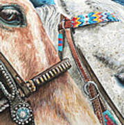 Roping Horses Art Print by Nadi Spencer