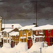 Roros In Winter - Norway Art Print