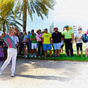 Rory Mcilroy - The Third Round Of The Omega Dubai Desert Classic Art Print
