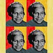 Rosa Parks X4 Art Print by Lawrence Hubbs