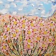 Rosa Ruby Flower Garden Art Print