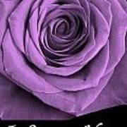 Rose 5 I Love You Art Print