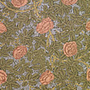 Rose 93 Wallpaper Design Art Print by William Morris