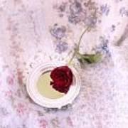 Rose And Mirror Art Print