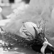 Rose And Wedding Cake Art Print